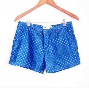 SIMONS Blue Chambray Graphic Print Shorts